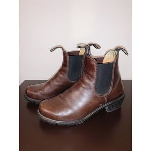 BLUNDSTONE | Brown Leather Chelsea Boots